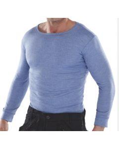 Thermal Vest Long Sleeved Blue Medium