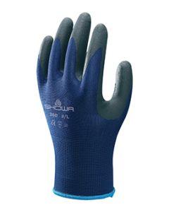 Showa 380 Nitrile Foam Grip Glove Blue Size 7 Medium