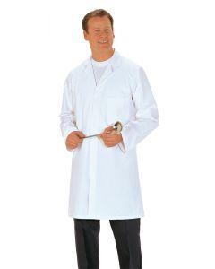 Mens Food Coat 3 Pockets White Large